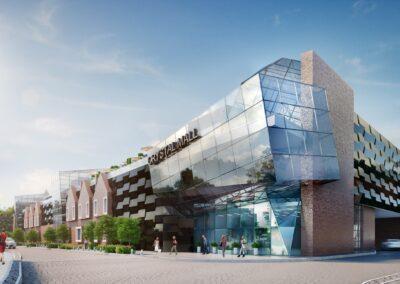 Торговельно-розважальний центр з дельфінарієм, м. Мукачево, Закарпатська обл. Архітектурна концепція