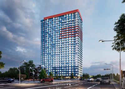 Жилой комплекс «Берег Днепра» на перекрестке ул. Берег Днепра-Здолбуновская, г.Киев (II очередь строительства)