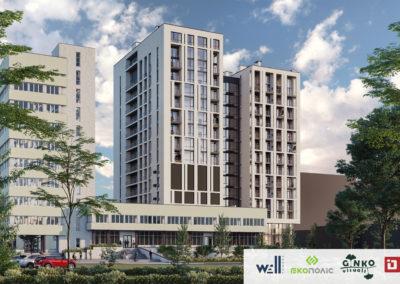 Многофункциональный комплекс «WELL towers» с административными, общественными помещениями, апартаментами и подземным гаражом на ул. В.Липинского, г. Львов